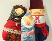 Mom, Dad and Baby Doll Ukrainian Matryoska dolls