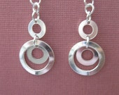Sterling Silver Bullseye Earrings