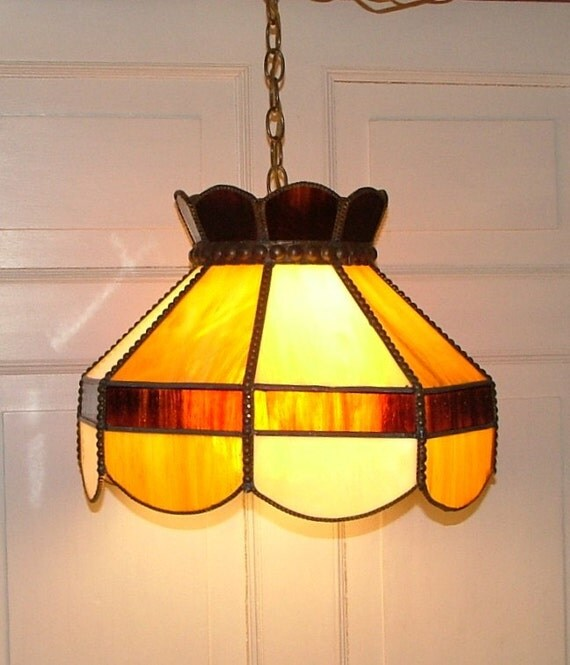 Thomas Industries Moe Lighting Stained Glass Hanging Ceiling