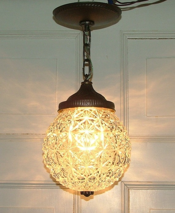Crystal Glass Globe Hanging Pendant Ceiling Light