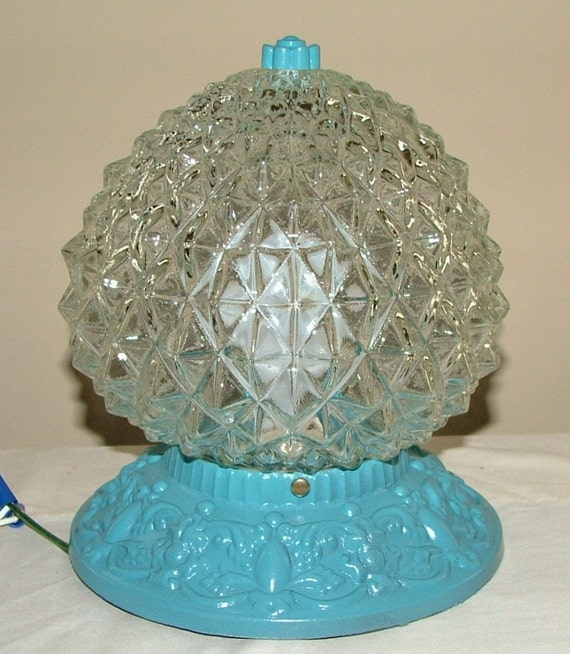 Ceiling Light Teal: Crystal Cut Glass Ceiling Light Fixture Turquoise By