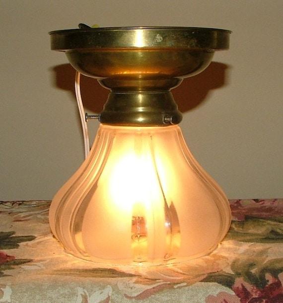 Antique Lighting Vintage Hanging Ceiling Light Glass Shade