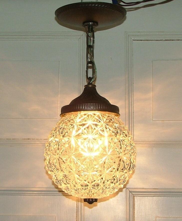 Crystal Glass Globe Hanging Pendant Ceiling Light
