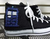 Doctor Who TARDIS Knit Chucks
