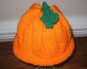 Child's Pumpkin Hat