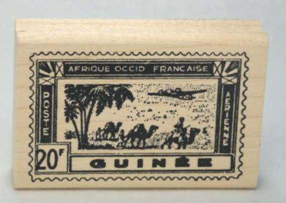 RubberStamp Postage Africa Guinee Poste Tin Can Mail