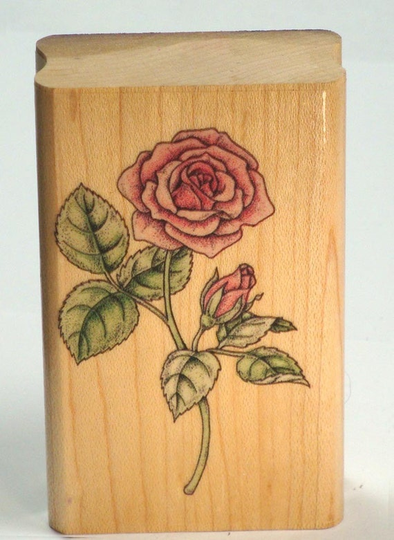 Rubberstamp Rose ... Romantic Stem Rubber Stamp