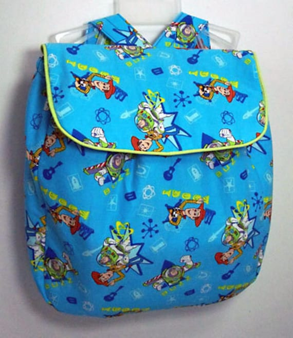 Handmade Children's Backpack made with Toy Story fabric