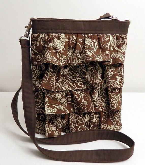 Custom Ruffle Cross Body Hip Bag for Julia B
