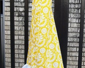 Yellow Floral Print Deluxe Nursing Cover with Ruffle