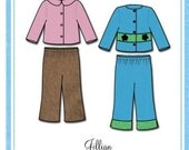 Bonnie Blue Girls Sewing Pattern - Jillian 112A - Jacket and Pants - Sizes 1, 2, 3 and 4 years