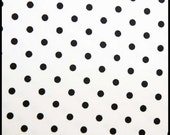 CORDUROY - White with Black Dots - 21 Wale - 1 Yard Listing