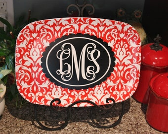 Personalized Melamine Platter Tray