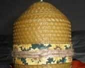 "Natural Honey Gold Pure Beeswax Pillar Candle. 3"" x 4"""