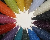 Rainbow of Color Pure Beeswax Candles, 6 inch, Set of 2