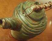 Green Coil Teapot - RESERVED for akunabay