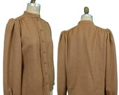 1970s Vintage Irene Galitzine Wool Blouse, Doris Duke Estate