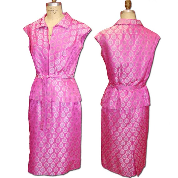 Adele Simpson Silk 2 Piece Dress