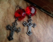 Gothic Cross Earrings - Northanger Abbey