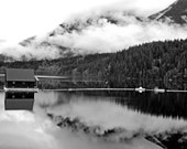 Black & White Landscape Photograph-Cloud Reflections on Water-Vancouver B.C.-Fine Art Photography