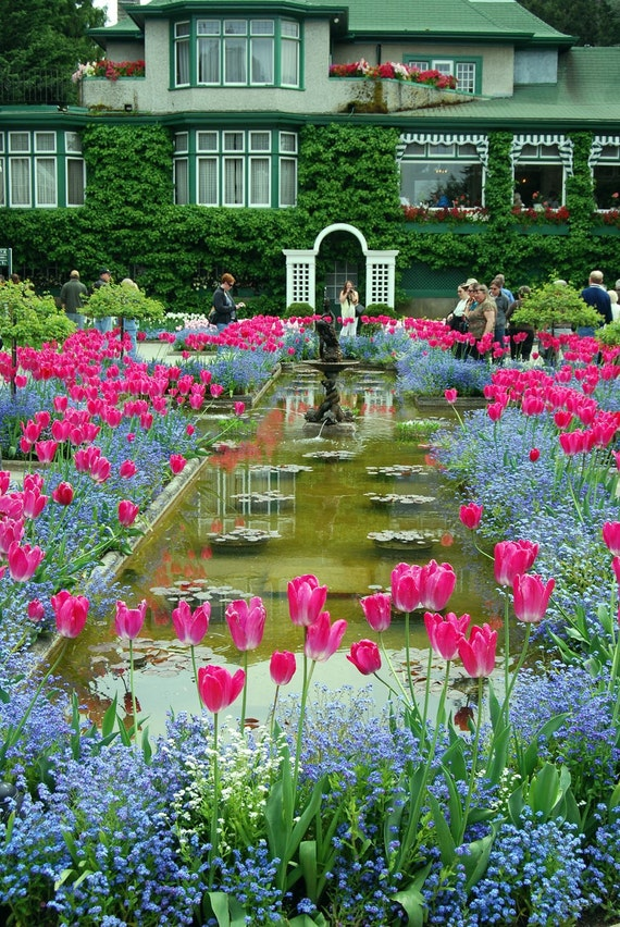 Items similar to italian garden butchart garden victoria for Gardening tools victoria bc