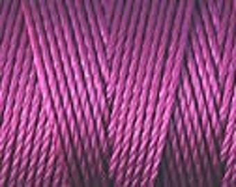 Raspberry C Lon Beading Cord Thread 86 yards Kumihimo