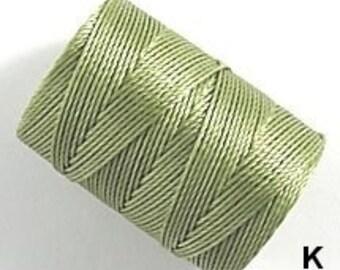 Khaki C-Lon Nylon Beading Cord Thread 92 yards