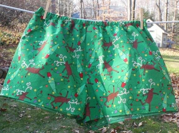 SALE - Reindeer Boxer Shorts for Men - Large - 42 - 44 inch waist