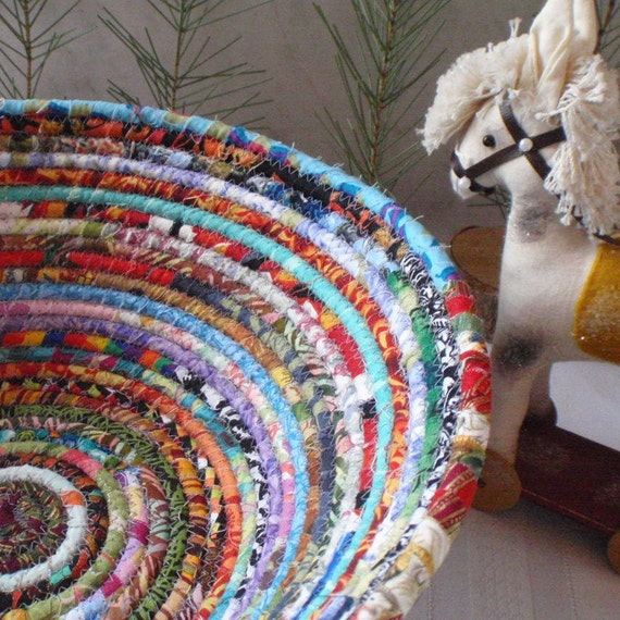 Gypsy - Coiled Fabric Basket - LARGE