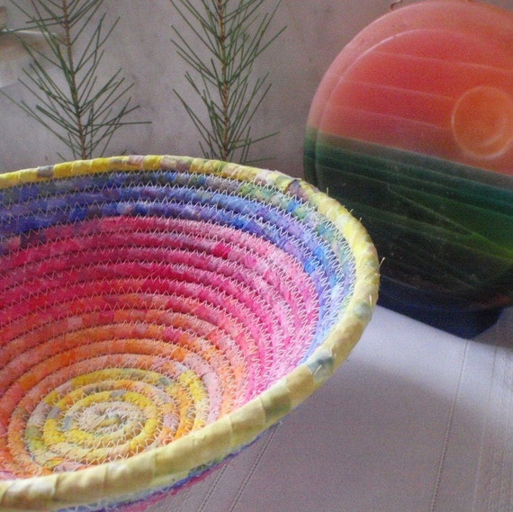 Coiled Fabric Baskets - After the Rain/Gypsy - RESERVED FOR LINDER16