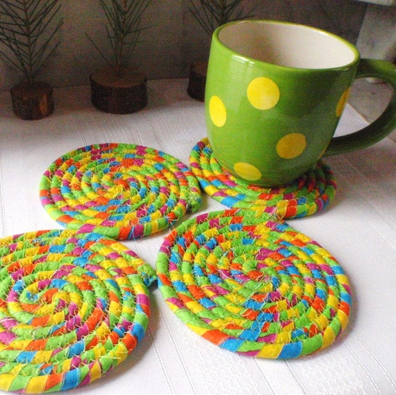 Coiled Coasters - Beach Day  - Set of 4
