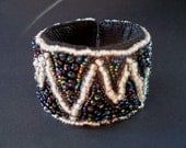 Glow In The Dark bead embroidered bracelet