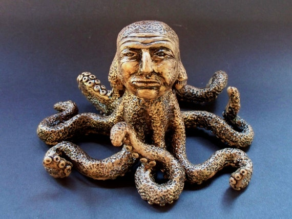 Old Man Octopus polymer clay sculpture