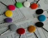 felt button bobby pins (pick your favorite 3)