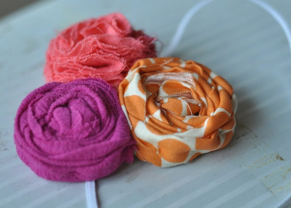 perfect summer headband (rolled and fluff)