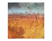 Horizon 9 - original abstract art texture painting on 12x12 gallery wrapped canvas