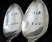 Tea 4 Two 2 Custom Teaspoons