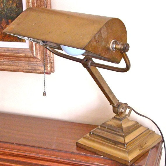 sale antique brass desk lamp. Black Bedroom Furniture Sets. Home Design Ideas