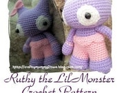 Lil Monster Ruthy. PDF Pattern
