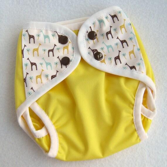 Newborn Gusseted PUL Diaper Cover