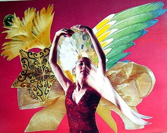Angel Dance 5 x 7 Collage Card