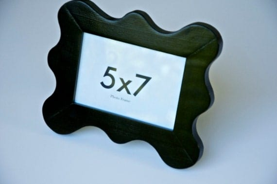 5x7 Black Funky Picture Frame