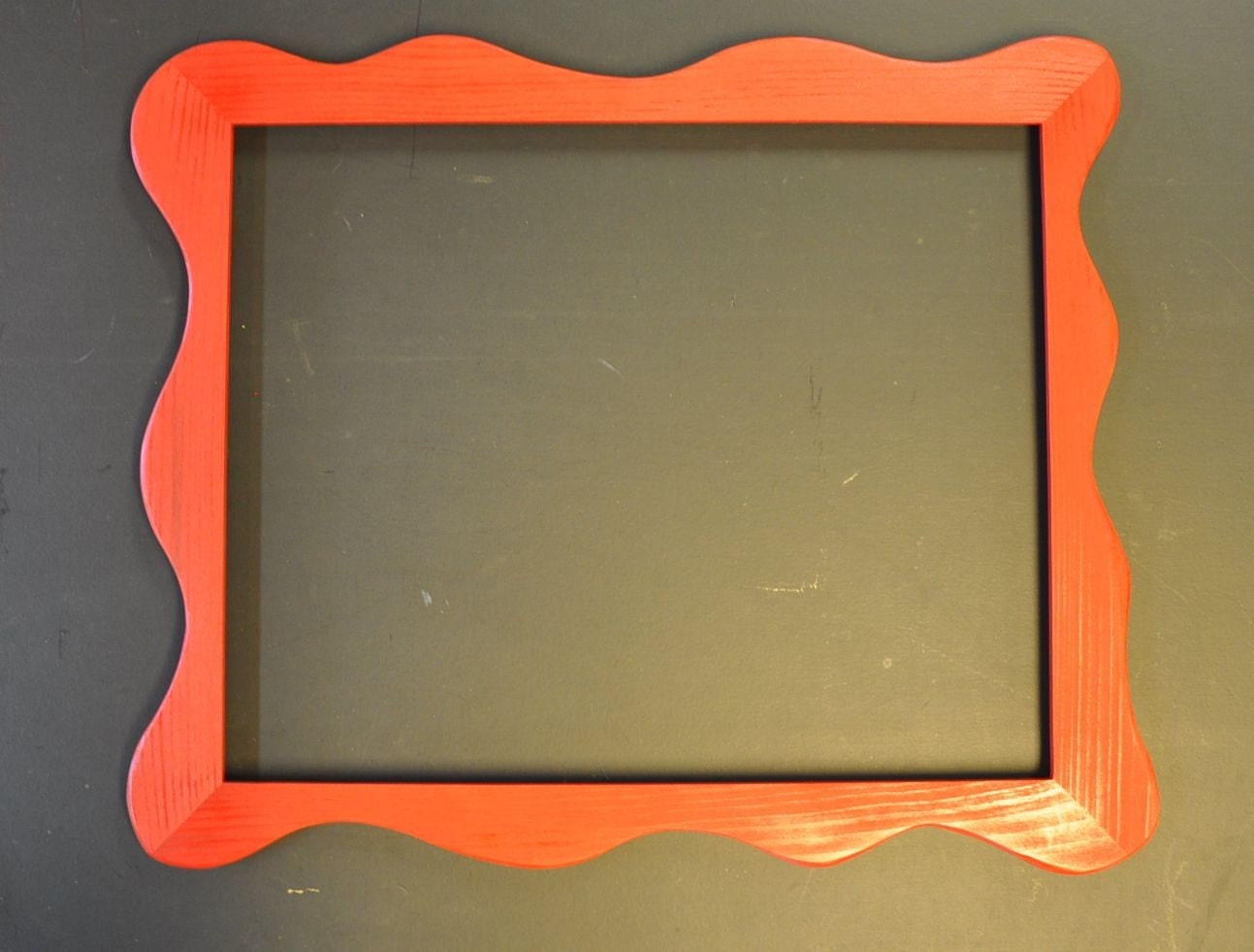 16x20 funky picture frame painted red with acrylic by for 16x20 frame