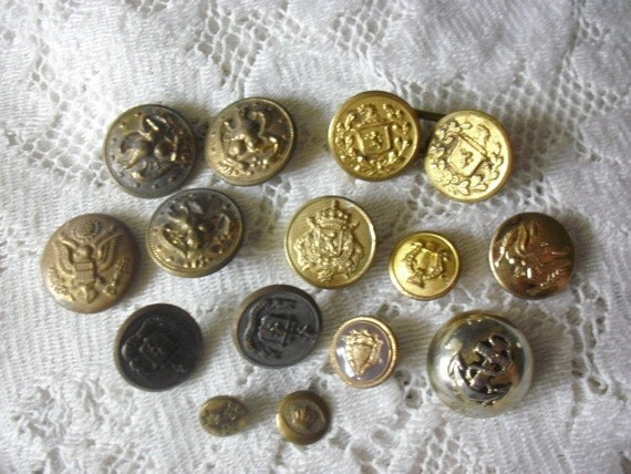 Vintage Gold Military / Nautical Buttons