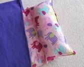 Personalized Nap Mat. Great for Daycare, Preschool or Kindergarten. Pink Elephants