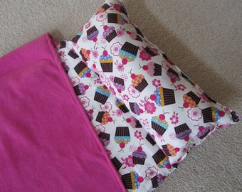Nap Mat. Great for Daycare, Preschool or Kindergarten.Personalized Free, Delicious Cupcakes