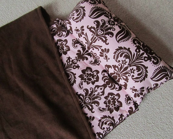 Nap Mat, Great for Daycare, Preschool or Kindergarten..Personalized Free. .Pink,Brown Damask