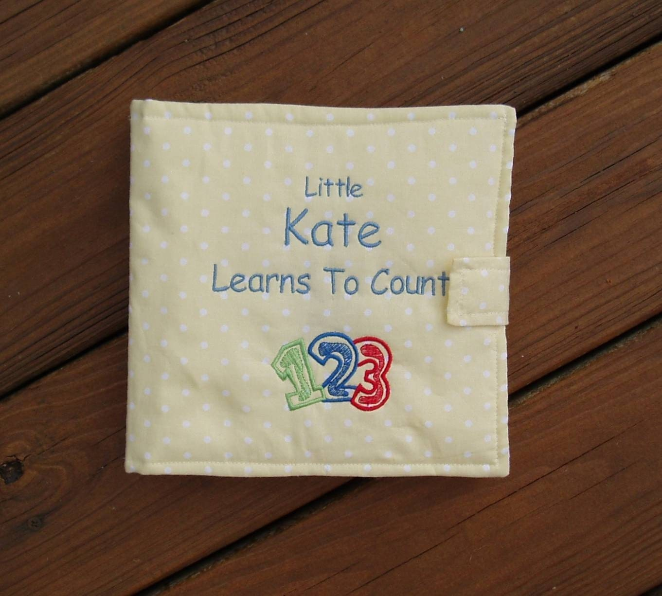 Personalized Cloth Baby Book Embroidered Learning To Count 1