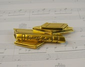 Poems of Love Books Brooch - Vintage Gold Tone Poetry Books On Etsy