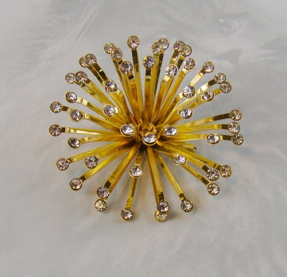 Baby You're A Firework Brooch - Amazing Star Burst - Rhinestone Explosion on Etsy